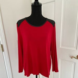 Chico's Long Sleeved Red Top